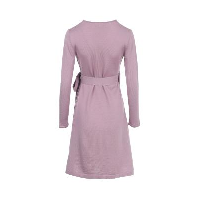 simple design wrap dress pink